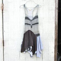 xsmall  medium   Upcycled clothing / Patchwork Dress by CreoleSha, $67.99
