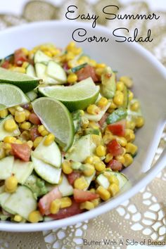 Easy Summer Corn Salad ~~ Butter With A Side of Bread #recipe #salad