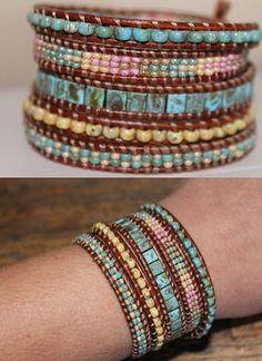 Beaded colorful Wrap Bracelet Bohemian wrap Bracelet - Handmade bracelet…