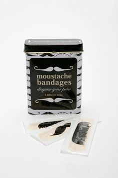 There is so much fun to be had with these gorious mustache bandages. So much