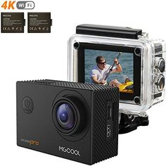 Action Camera, MGcool Pro 4K sports Camera, 170° Wide Angle SHARKEYE Lens Waterproof Cam 16MP Ultra HD Underwater Action Cam with SONY Sensor and 2 Batteries, Accessories, Christmas Gifts