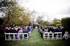Wedding Ceremony, Sole East Resort, Flowers by: Amagansett Flowers by Beth, Photo: Khaki Bedford Photography - Montauk Wedding http://caratsandcake.com/lesleyandmatt