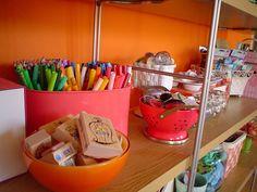 craft room - shelf storage
