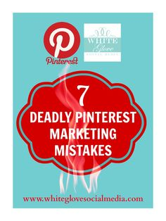 Unfortunately I am seeing too many of the same mistakes being made over and over by businesses, they have unwittingly set themselves up to fail and underperform from the get-go. Here are the seven deadly sins of Pinterest social media marketing you absolutely have to avoid!