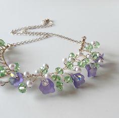 Purple Lucite Flower