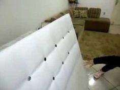 como fazer uma cabeceira de cama estofada- a reforma
