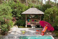 Un bassin indonésien pour profiter pleinement de son jardin ! #dccv #jardin #outdoor #exterieur