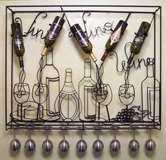 Cool wire frame wine rack