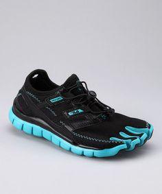 Black & Scuba Blue Skele-Toes Lite Running Shoe - Women by Fila on #zulily today! $29.99