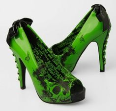 Amazon.com: Iron Fist American Nightmare Heels Lime Green: Shoes
