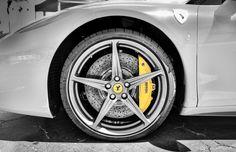 Massive Brakes on a Ferrari