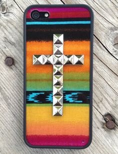 Aztec Silver Studded Cross iPhone 5 Case | Wildflower cases
