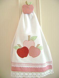 Trapo de cocina con manzanas