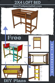 diy loft bed for kids . diy loft bed for adults . diy loft beds for small rooms . diy loft bed with desk . diy loft bed for kids how to build . diy loft bed for kids small room Loft Bed Diy Plans, Build A Loft Bed, Bunk Bed Plans, Murphy Bed Plans, Murphy Beds, Toddler Loft Beds, Twin Size Loft Bed, Kids Bunk Beds, Adult Loft Bed
