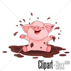 CLIPART DIRTY PIGLET