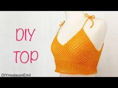 Blusa Top tejido a crochet ganchillo paso a paso - YouTube