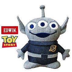 Toy Story Doll Disney Alien Plush Japan Aliens Pixar TOY STORY x EDWIN denim #EDWIN