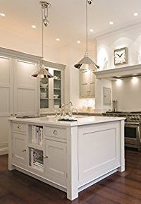 Polished nickel pendant lights ideal for kitchen islands