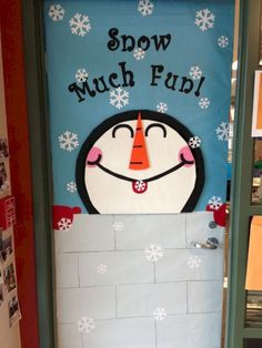 january door decorations door decorations winter classroom door decorations winter classroom one was easier than door decorations winter door decorations for classrooms - Christmas Classroom Door, Christmas Door Decorations, School Decorations, Classroom Decor, Preschool Door Decorations, School Classroom, Snow Much Fun, Snow Fun, Decoration Creche