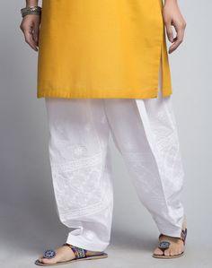 Cotton Chikankari Hem Embroidered Salwar
