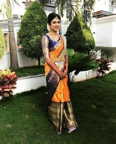 Over - Kanjivaram / Saree Store: Fashion Wedding Saree Blouse Designs, Pattu Saree Blouse Designs, Half Saree Designs, Fancy Blouse Designs, Silk Saree Kanchipuram, Silk Sarees, Kanjivaram Sarees, Saris, Indian Beauty Saree