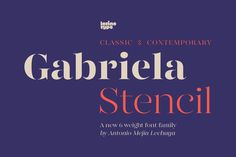 Gabriela Stencil Family - 79% off! by Latinotype on @creativemarket