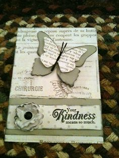 Stampin Up Beautiful Butterflies From The Heart vintage card kit friendship