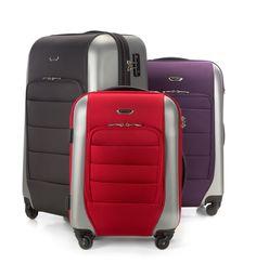 Bagaż hybrydowy to nowość na rynku. Wyjątkowa linia Mix Line została stworzona z połączenia odpornego tworzywa ABS umożliwiającego zachowanie kształtu walizki oraz elastycznego poliestru.