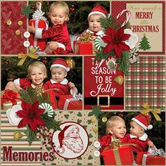cs-bemerry - Such a beautiful layout using @jenniferlabre 's Be Merry Digital Kit found at Pickleberry Pop! These photos are so adorable!