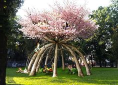 Flourishing 'Patient Gardener' Pavilion Made of Living, Growing Cherry Trees Pops Up in Milan! | Inhabitat - Sustainable Design Innovation, Eco Architecture, Green Building