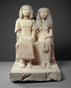 Yuny and His Wife Renenutet Period: New Kingdom, Ramesside Dynasty: Dynasty 19 Reign: reign of Seti I Date: ca. 1294–1279 B.C. Geography: From Egypt, Middle Egypt, Asyut (Assiut, Siut; Lykopolis), Tomb of Amenhotep, Necropolis Cliff tomb, Medjdeni, Khashaba excavations, 1913 Medium: Limestone, paint Dimensions: H. 84.5 cm (33 1/4 in); w. 54.5 cm (21 7/16 in); d. 73 cm (28 3/4 in) Credit Line: Rogers Fund, 1915 Accession Number: 15.2.1