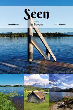 Die schönsten Seen in Bayern, teilweise mit wunderschönem Alpenblick. #bayern #see #urlaubindeutschland Tolle Hotels, German, Happiness, Travel, Inspiration, Alps, Beautiful Places, Viajes, Nice Asses