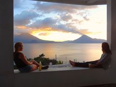 # www.casaprana.com # ♥ CPMB a sunset over lake atitlan guatemala