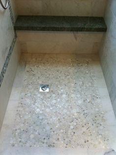 Marble Shower Floor - contemporary - bathroom - los angeles - Blackbird Construction, Inc.