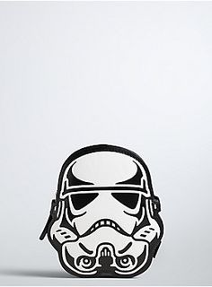 """<p>You'll be embracing the dark side with this stormtrooper coin purse! Smooth black and white faux leather covers the mini style, the zip pocket ensuring protection like stormtroopers protect the dark side.</p>  <ul> <li>4.5"""" X 5.25""""</li> <li>Man-made materials</li> <li>Imported</li> </ul>"""