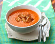 Roasted Tomato Soup via @lovelyfoodblog