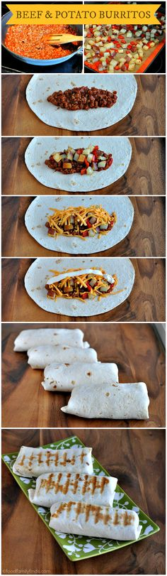 How to Make Grilled Manwich Beef and Potato Burritos by foodfamilyfinds #Burritos #Beef