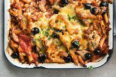 Spicy tuna pasta bake Baked Pasta Recipes, Gnocchi Recipes, Tuna Recipes, Seafood Recipes, Cooking Recipes, Recipe Pasta, Cooking Pasta, Tasty Recipe, Salmon Recipes