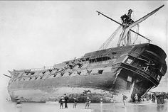 On 16 June 1897 during a violent storm, she parted a cable and dragging the remaining anchor, went ashore, damaging Blackpool North Pier. After vain attempts to refloat her, she was sold for ₤200. She finally broke up in the December. Craftsmen used flotsam from the wreck to make furniture. (Source Wikipedia)