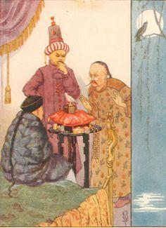 Nightingale Emperor Bird Fairy Tales c1920 Margaret Tarrant Vintage Matted Print | eBay