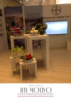 """Te compartimos un ejemplo de colocación de alimentos en un stand del Evento """"Hecho en Alemania"""" relacionados con la marca CropScience, división de Bayer de México."""