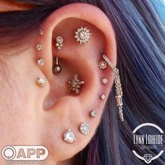 """923 Likes, 6 Comments - AMATO Fine Jewelry & Piercing (@amatopiercing) on Instagram: """"Diamonds are forever! Few know this better then Aly who recently had lynn do this awesome triple…"""""""