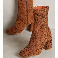 Nib Anthropologie Miista Adrianne Printed Boots 8