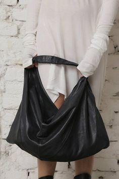 0ea47f155f2cd Black Leather Bag, Leather Tote, Women Tote, Shopping Bag, Shoulder Tote  Bag, Travel Bag, Gothic Bag, Black Hand Tote, Casual Leather Bag
