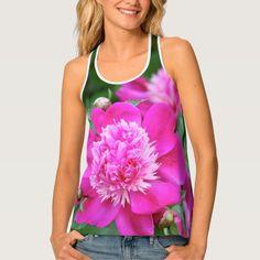 Hot Pint Peony Flower Tank Top
