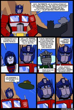 """The G1 Transformers never really understood the """"disguise"""" part of being an alien robot living on earth....."""