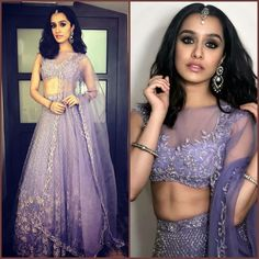 Who looks stunning in a Sabyasachi Lehenga, Shraddha Kapoor or Alia Bhatt? Bollywood Lehenga, Red Lehenga, Bollywood Fashion, Lehenga Choli, Anarkali, Shraddha Kapoor Lehenga, Sarees, Bollywood Stars, Indian Wedding Outfits
