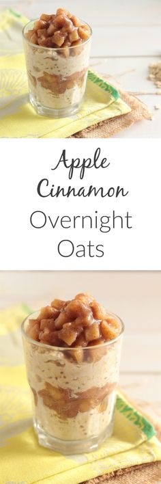 These apple cinnamon overnight oats are healthy and vegan, but you'll feel like you're eating apple pie for breakfast!