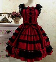 Women Cute Princess Vintage Punk Gothic Lolita Dress Lace Sweet Cosplay Dress