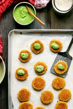 Baked Falafel Recipe with Carrots and Green Tahini